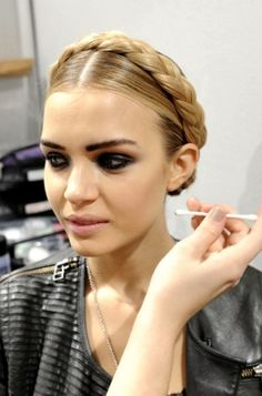 MilkMaid braids at Moschino 2012