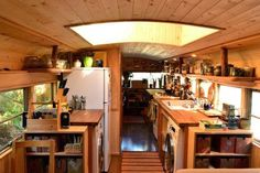School bus living reflects our values. We believe in living simply (i. not having too much 'stuff' and having a smaller footprint on the earth). Tiny House Blog, Tiny House Living, Small Living, School Bus Camper, School Bus House, School Buses, Bus Living, Airstream, Transformers