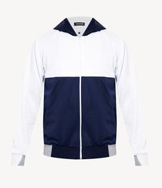 Infused your style with this Tolliver Color Blocking Hoodie, two tone hoodie color made from good material, the combination of navy blue, white and gray, make this hoodie look so eye catching. Front zipper closure, front pocket, regular fit, perfect hoodie for a cold weather. http://www.zocko.com/z/JJVpT