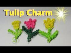 ▶ Rainbow Loom Charms: TULIP Charm: How to Design / Tutorial (DIY Mommy) - YouTube