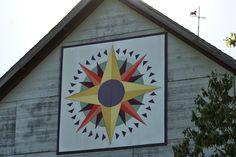 "Kansas Flint Hills Quilt Trail: Quilt Trail - ""Mariner's Compass/Flying Geese"""