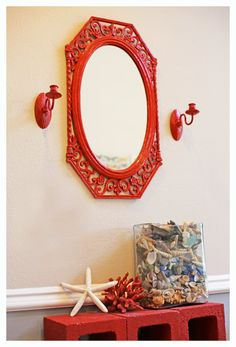 Cherry Red Indian Candle Sconces by PeaceandPoetry on Etsy, $60.00