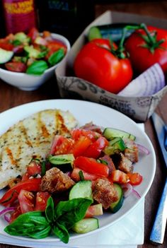 Panzanella -  a perfect summer supper