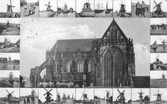 Utrecht op zondag | Domkerk 1906 | Leg mij eens uit....wat heeft de stad toch van doen met al die molens...(..?)