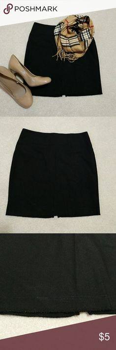 🚨 F21 black mini skirt Color: black  Style: mini Description: very cute style mini skirt with back partial zip up and hook closure with some flaws. As seen in the photos, there's some shining near the bottom hem in certain lighting, and also some pilling at that hem (maybe a lint roller will help?). The back slit seam is also unraveling a bit, should be an easy sew. Let me know if you have questions!   ❤️ Always open to offers, questions! Discount for bundles of 2+! Forever 21 Skirts Mini