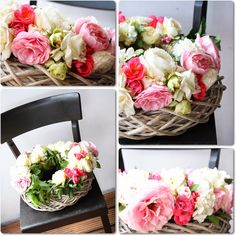 Rosenkranz aus frischen Rosen