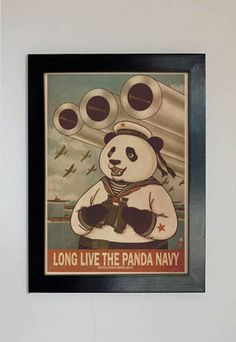 Panda Revolution XII A4 by xiaobaosg on Etsy, $30.00