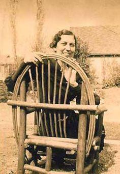 Eudora Welty in her garden, circa 1930