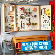 #NewHome - Garage Tip Use pegboards to make it easy to access all your tools. #Moving / #Unpacking idea via Handyman Magazine