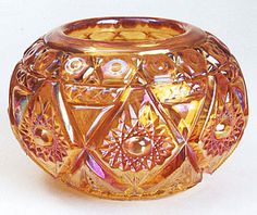 rosebowl made from an Imperial Diamond Lace tumbler