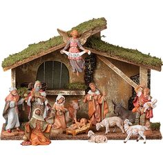 Add to your Advent and Christmas decorations with this beautiful 5 inch Fontanini Nativity Set. This 13 piece set is available online at Leaflet Missal.