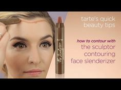 how to contour like a pro! (by tarte cosmetics, on YouTube) [tools: The Sculptor Contouring Face Slenderizer and The Slenderizer Bamboo Contouring Brush, both from Tarte]