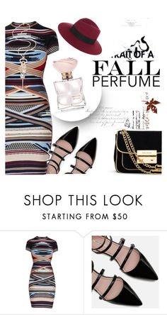 """Fun Fall Perfumes"" by clotheshawg ❤ liked on Polyvore featuring beauty, Hervé Léger, Zara and Dansk"