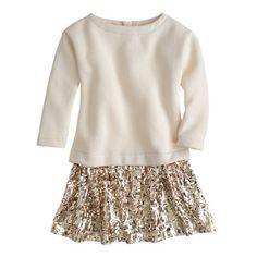 J.Crew - Girls' sequin-skirt sweatshirt dress