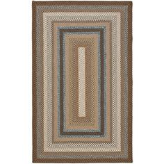 Safavieh Braided Brown And Multi Rectangular Indoor Braided Area Rug (