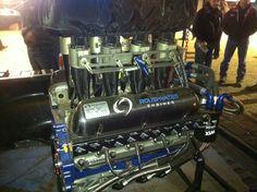 Roush/Yates 410 sprint car engine... Sprint Car Racing, Dirt Track Racing, Race Car Parts, Race Cars, Mechanical Power, Performance Engines, Race Engines, Motor Engine, New Engine