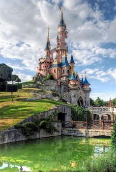This reminds me of Cinderella's  Castle in Disney World.