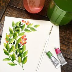 Some simple sprigs for your Tuesday morning! Hope it's a good one with lots of ☕️☕️ and ☀️☀️! ... ... #winsorandnewton #princetonartbrush #sprigs #greenleaves #lushgreen #watercolorart #watercolorprints #customart #watercolor #berries #botanials #inthegarden #growsomethinggreen #paintitall #paintyourselfhappy #artinspiration #prettywater #pinksandgreens #florals #surfacepatterndesign #floraldesign #watercolordesign #somethingsimple #keepitsimple #cleanart #rvaartist #rva #rvaart