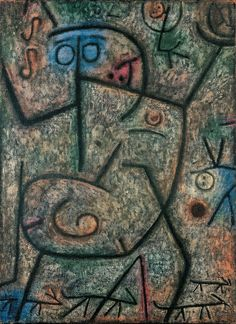 Paul Klee (1879-1940), O! die Gerüchte! (Oh! These Rumours! (1939) (1015). Tempera and oil on jute. 75.5cm H x 55cm W.