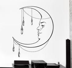 Vinyl Wall Decal Moon Night Romantic Ethnic Cozy Big Home Interior Decor z4452