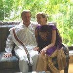 Dana Rae Pare with Tim Miller in Mysore, India