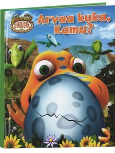 Tv-sarjasta tuttu pieni Kamu tutustuttaa lapset iloisessa Dinojuna, Arvaa kuka, Kamu? -luukkukirjassa erilaisiin dinosauruksiin. Siskonsa Tiinun kanssa Kamu hyppää dinojunan kyytiin ja kiitää esihistorialliselta aikakaudelta toiselle vieraillakseen ystäviensä luona. Vihjeiden avulla voi arvailla, kenestä on kyse, ja oikea dino löytyy aina luukun alta!