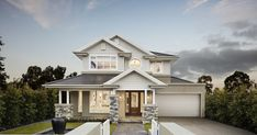 Genuinely Breathtaking Bayville Home Design By Metricon Hamptons Style Homes, Hamptons Decor, Hamptons House, Beautiful Home Designs, New Home Designs, Beautiful Homes, Facade House, House Facades, House Exteriors