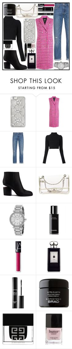 """Street style NYFW"" by evakasnioska ❤ liked on Polyvore featuring Michael Kors, MSGM, Levi's, Balmain, Alexander Wang, Chanel, NARS Cosmetics, Jo Malone, MAKE UP FOR EVER and Givenchy"