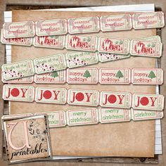 Christmas Tickets from UPrintables.