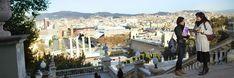 Egy Jehova Tanúja Spanyolországban prédikál