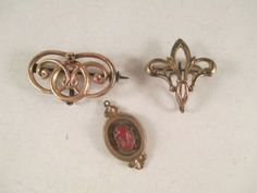 Lot-of-Vintage-Antique-Victorian-Watch-Fob-Pendant-Brooch-Pins-Carved-Coral-Face