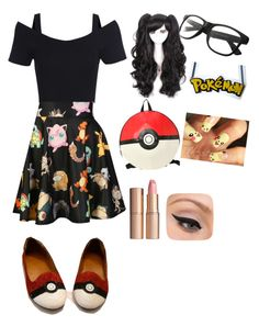 """""""Pokémon Otaku"""" by black-butler-69 ❤ liked on Polyvore featuring O-Mighty, Charlotte Tilbury and LORAC"""
