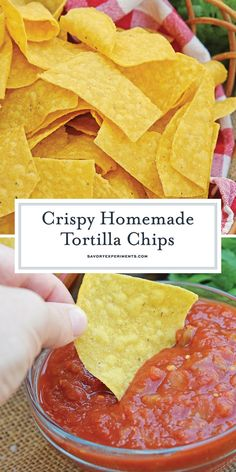 Homemade Tortilla Chips – Use your leftover corn tortillas to make homemade tortilla chips. Super crunchy, serve with salsa, dips or as a snack. Baked Corn Tortilla Chips, Baked Corn Tortillas, Homemade Corn Tortillas, Corn Tortilla Recipes, Healthy Tortilla Chips, Corn Tortilla Quesadilla, Recipes Using Flour Tortillas, Healthy Chips, Corn Chips