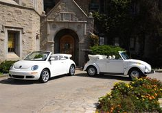 Modern meets Classic - VW Beetle Convertible Triple White