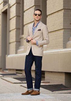 1580a3b6a Casual Khaki Blazer | My Style | Fashion, Mens fashion:__cat__ ...