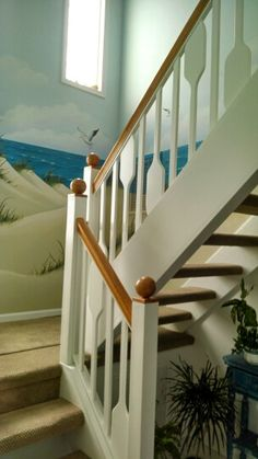 Oar Railing B I House Pinterest Railings And Basements