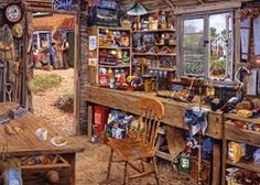 Dad's Shed Americana Jigsaw Puzzle