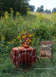 Fall arrangement in a pumpkin tureen   Home is Where the Boat Is