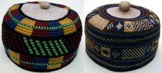 These tapestry crocheted hats are from Foumban