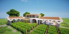 Grapes Mediterranean WineStore vinyard farm modern minecraft building