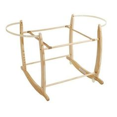 Clair de Lune Natural Deluxe Rocking Moses Basket Stand
