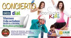 ¡Concierto de Conecta Kids en El Ingenio el próximo 3 de octubre! Trae a los #peques a disfrutar de lo lindo.
