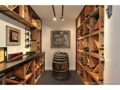 Wine Room made of wood crates