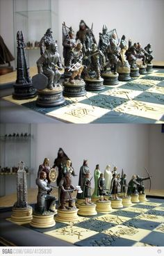 The Lord Of The Rings Chess Set.oh no taylor will want this! Glass Chess Set, Chess Sets, Chess Tactics, Chess Set Unique, 3d Printing Diy, Chess Table, Wall Painting Decor, Art Through The Ages, Kings Game