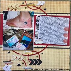 Band Aid, Scrapbooking Layouts, Sick, Souvenir, Scrapbook Layouts, Scrapbook Page Layouts