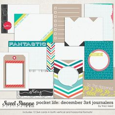 Pocket Life: December 3x4 Journalers by Traci Reed