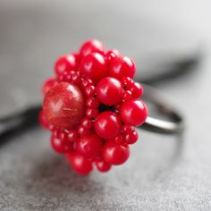 Daisy Ring -  Coral £12.00