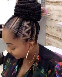 Big Cornrows Hairstyles, Quick Braided Hairstyles, Black Hairstyles With Weave, Black Kids Hairstyles, Curly Weave Hairstyles, Bob Hairstyles, Cornrows Braids For Black Women, Braids For Short Hair, Natural Hair Braids
