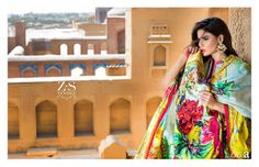 Ayesha Ibrahim Festive Luxury Lawn 2017 Eid Collection by ZS