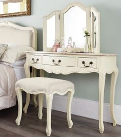 Shabby Chic Furniture Cheap Juliette Champagne Bedroom Sofa Target Dressing Table Set L Decorating Accessories Modern Living Room Ideas Before - Bedroom Furniture Shabby Chic How Cream Dressing Tables, Shabby Chic Dressing Table, Dressing Table Mirror, Shabby Chic Bedroom Furniture, Painted Bedroom Furniture, Bedroom Decor, Painted Dressers, Wooden Bedroom, Furniture Near Me